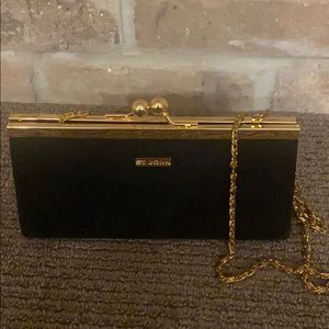 St. John velvet mini clutch